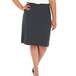 The Limited Grey Pencil skirt w pleated back.